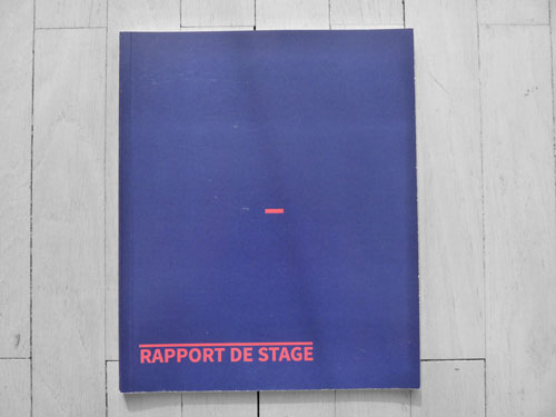 Margot Buisson Portfolio Rapport De Stage