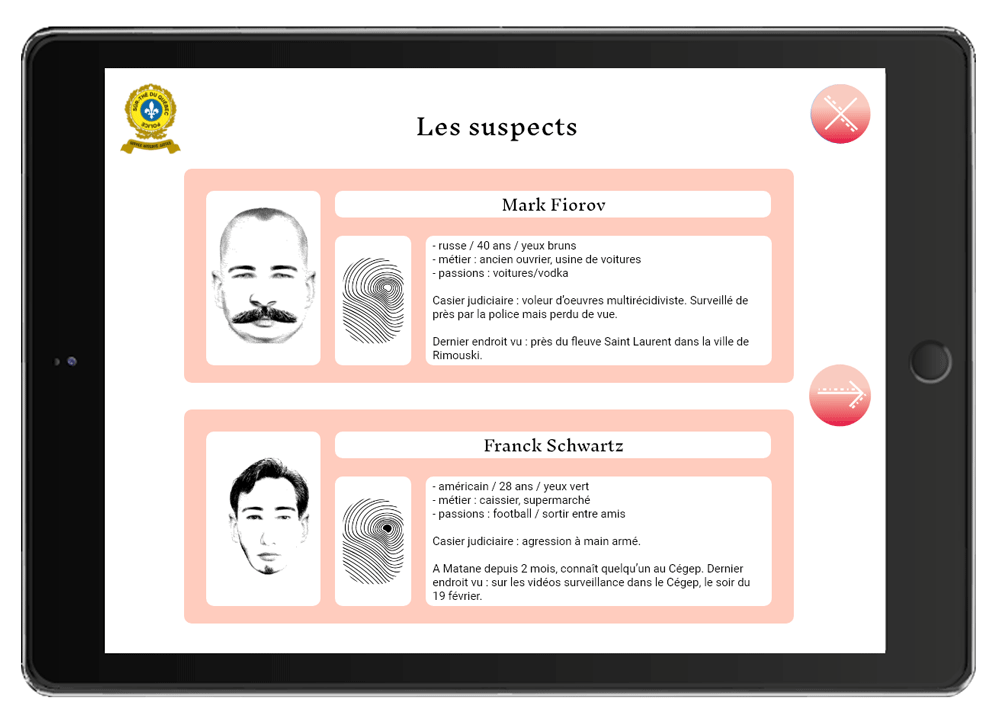 Suspects page 1 application musart